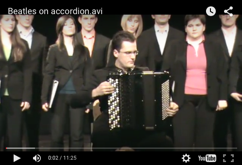 Beatles on accordion